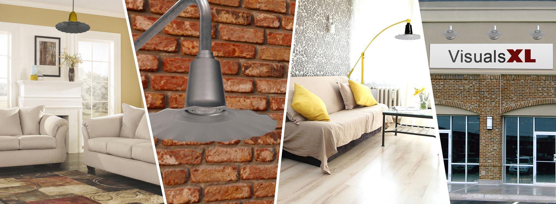 Customizable Iris Indoor LED Barn Pendant Light series