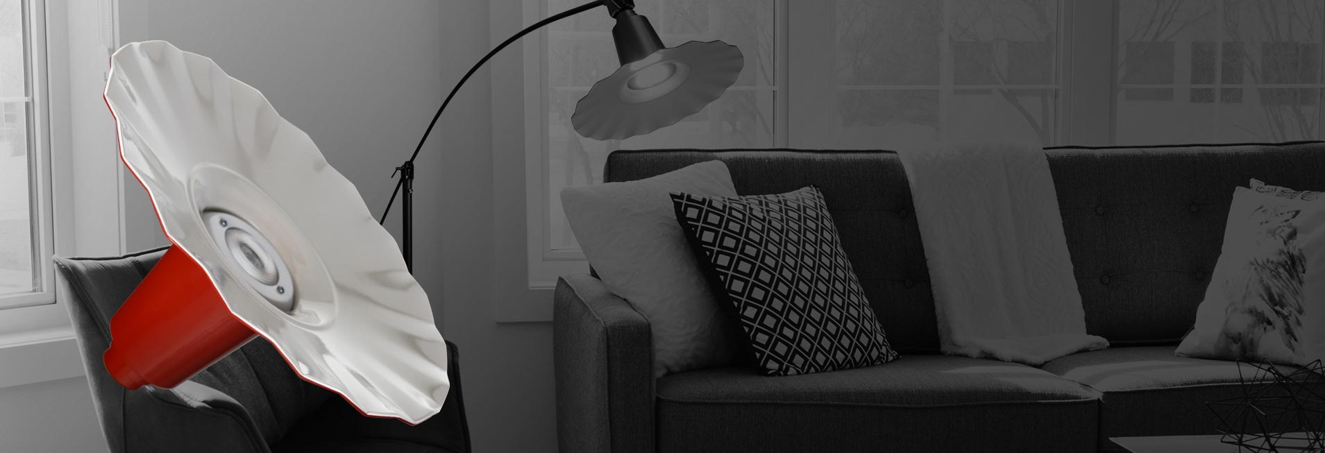 Customizable Iris Floor Lamp adjustable