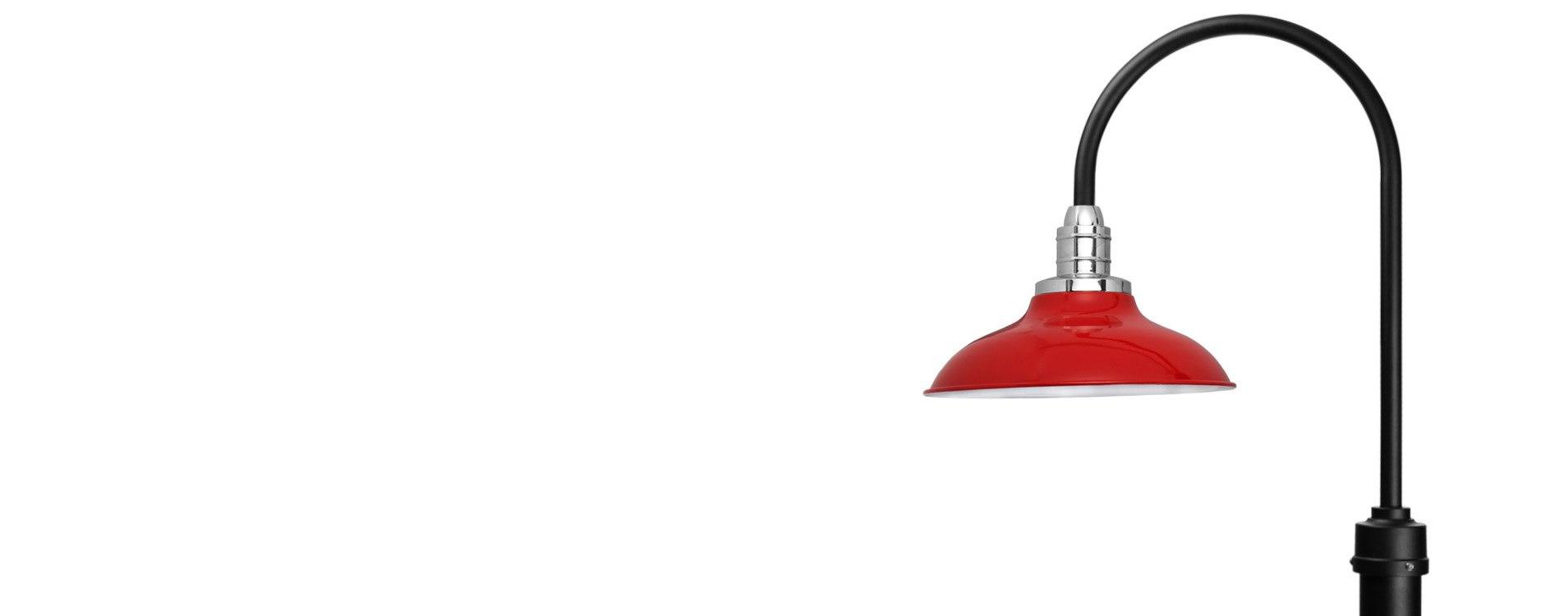Customizable Peony LED Barn Lamp Post