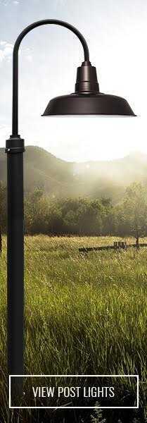 mahogany bronze lamp post on open green nature outdoor image