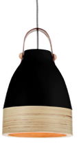 Norcia LED pendant light in black
