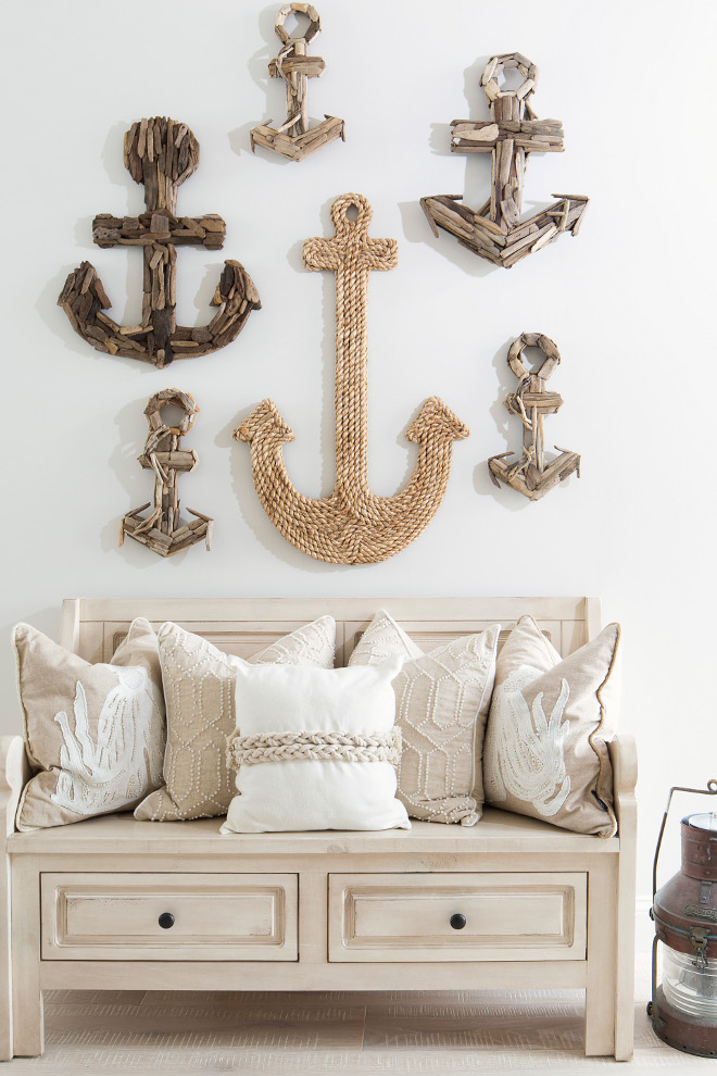 Anchors on the wall with chair