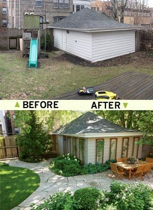 before and after outdoor space design