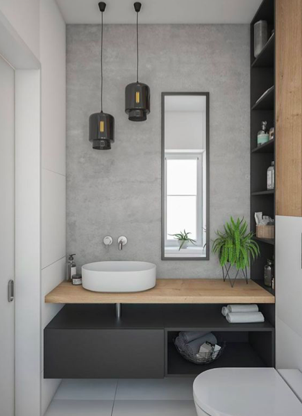Dark and Elegant bathroom