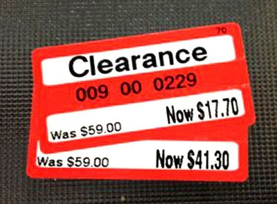 clearance tag red clearance tag for clothing