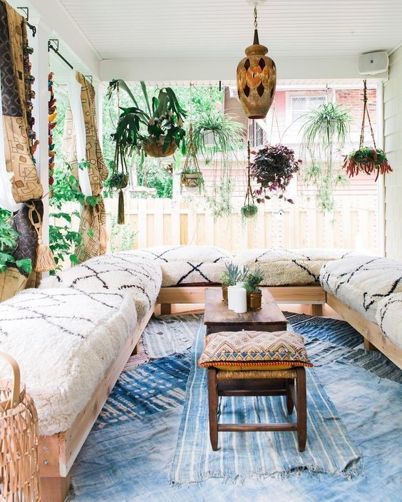 hanging plant outdoor sunroom