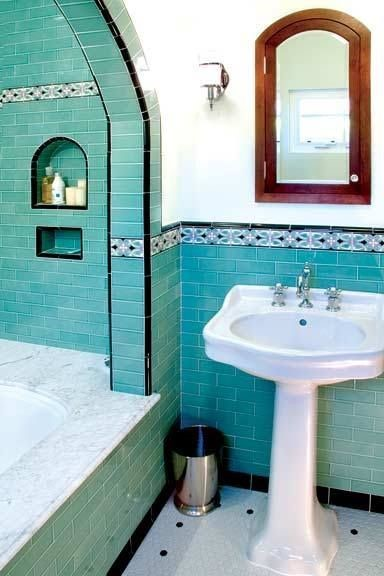 island turquoise shower tile