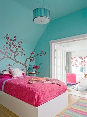 japanese cherry blossom girls room