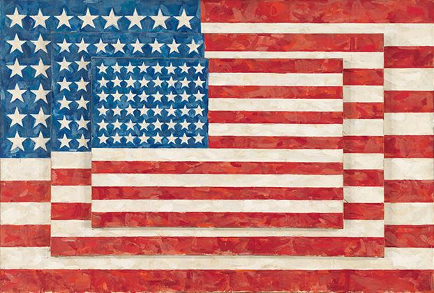 """Jasper John """"Three Flags"""""""