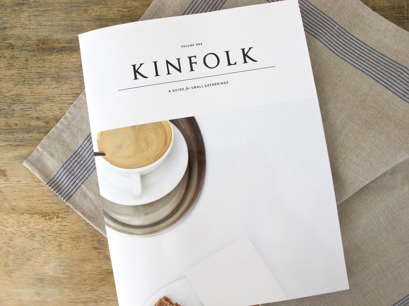 Kinfolk magazine with coffee on front