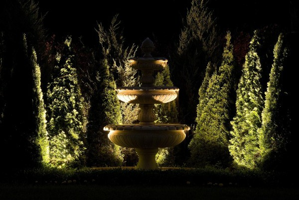 Lighting for the garden floor spot fountain garden lighting