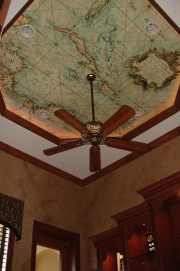 Map on the ceiling with fan