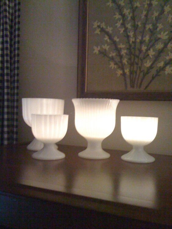 milk glass lights lighting