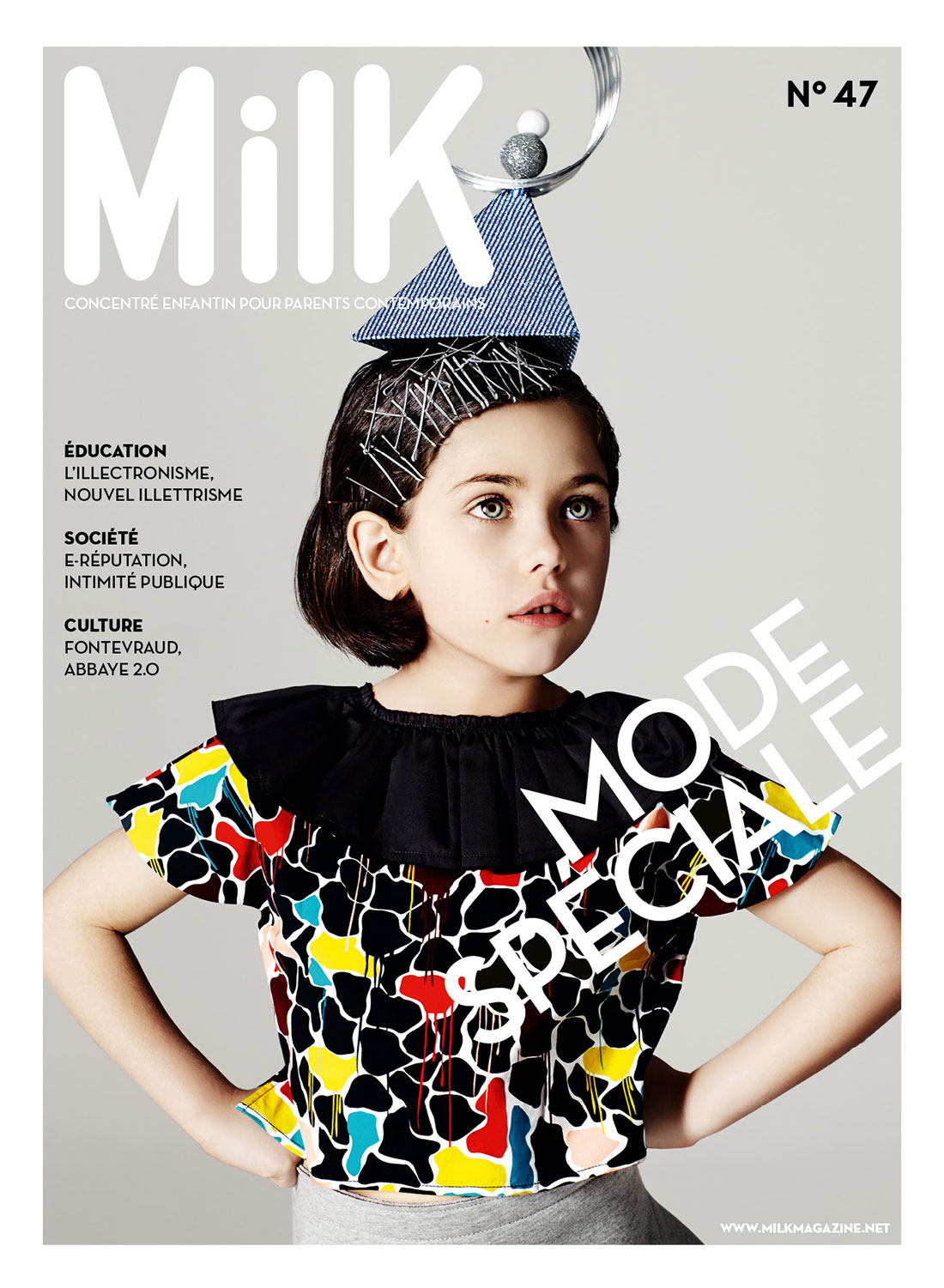 Magazine with Milk and little girl with hat
