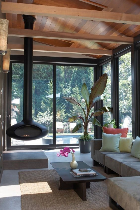 modern indoor outdoor living room