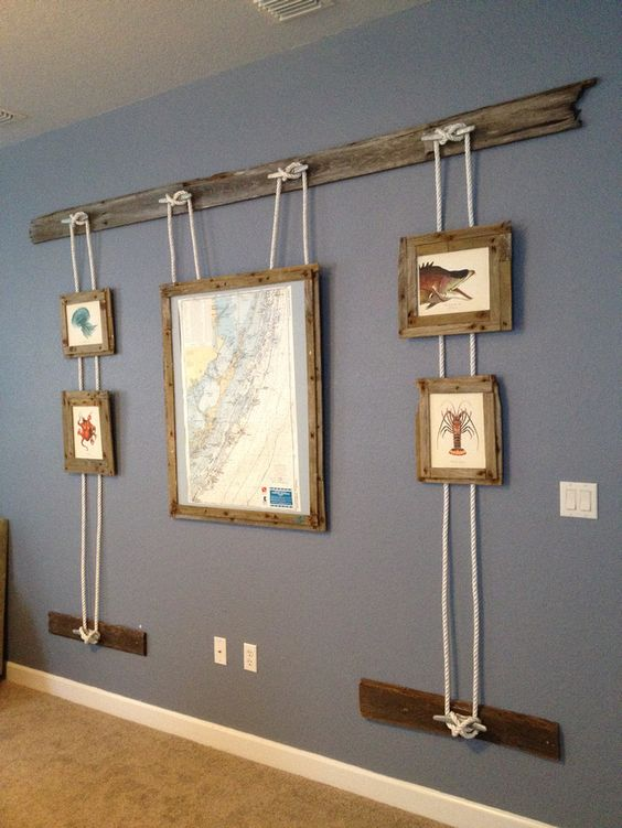 Nautical frames on the wall