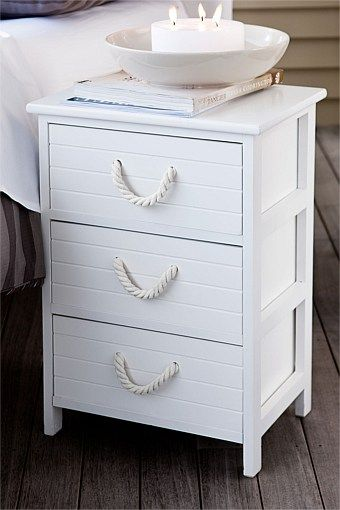 Nautical drawers white with candles