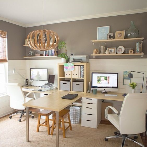 neutral colors home office