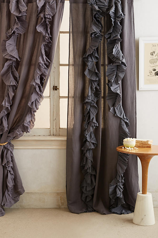 curtains with ruffles