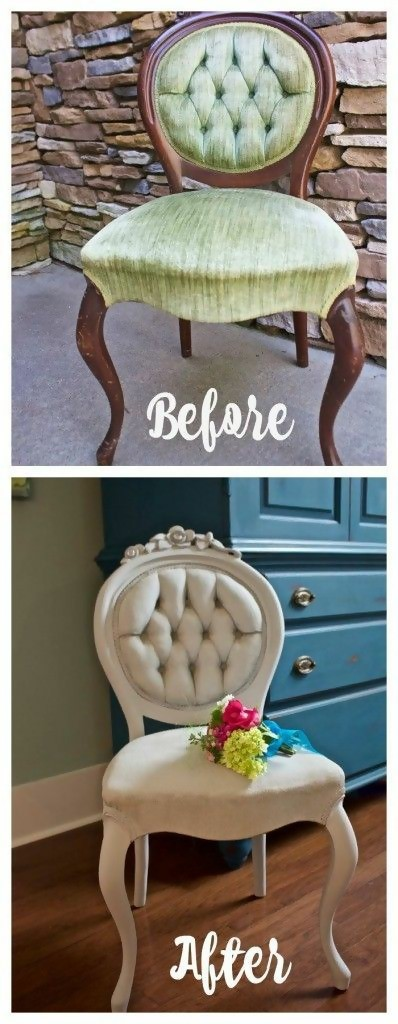 rustic chairs that have been reupholstered