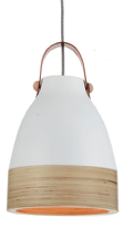 Norcia LED Pendant light in white