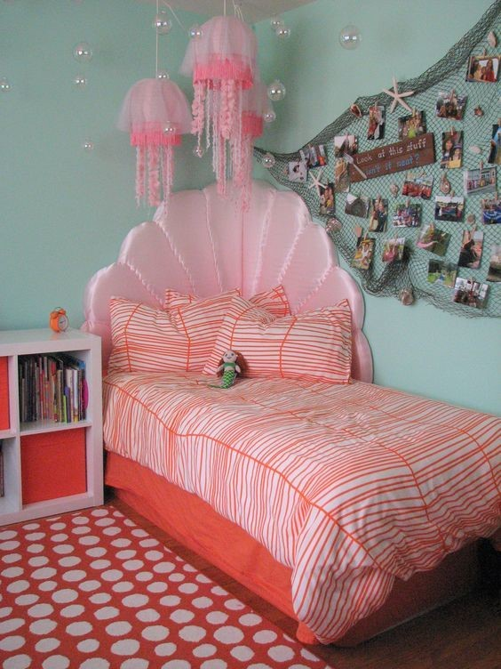 under the sea themed girls room