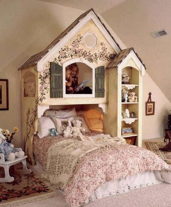 vintage doll house girls room