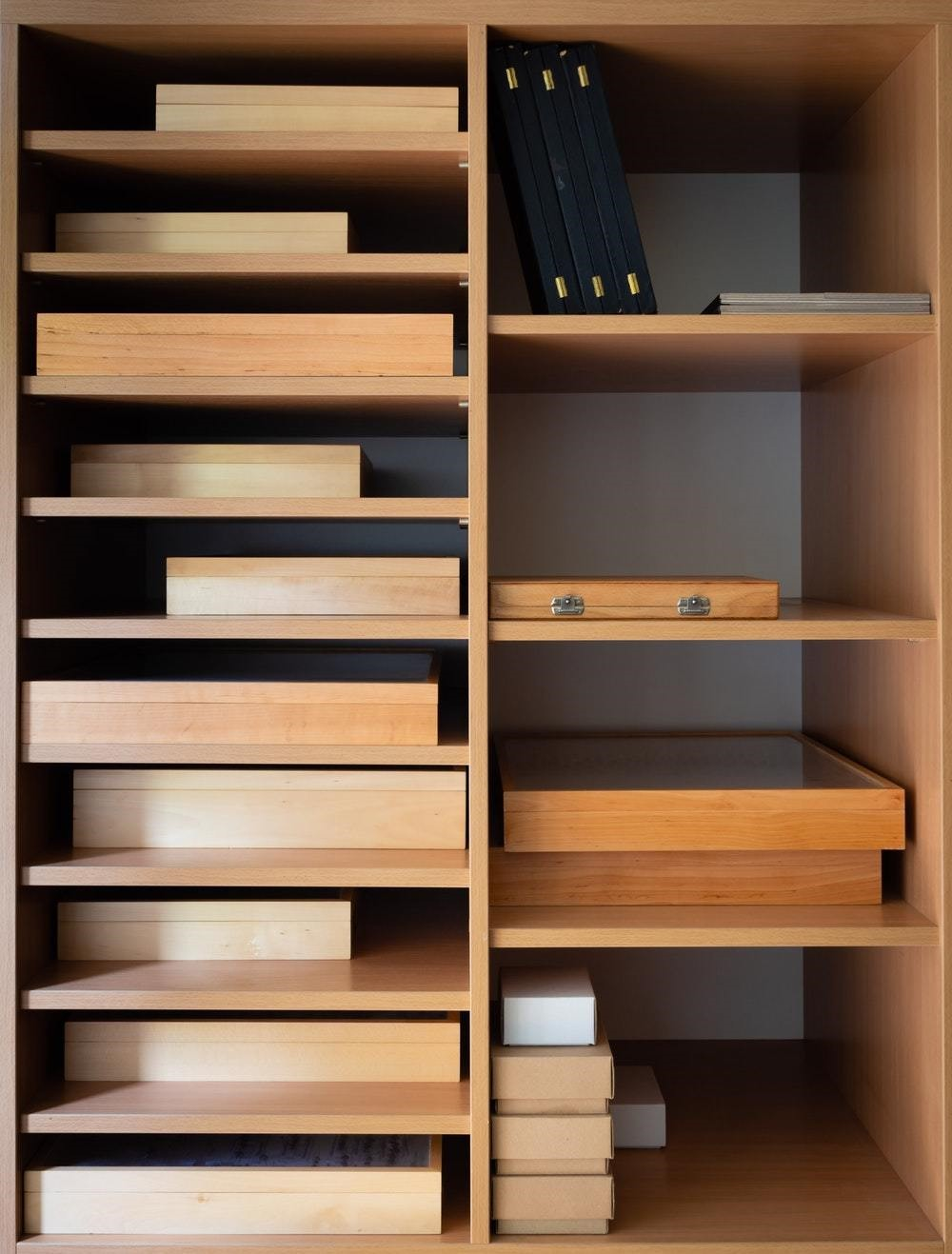 wood cubbies for organization